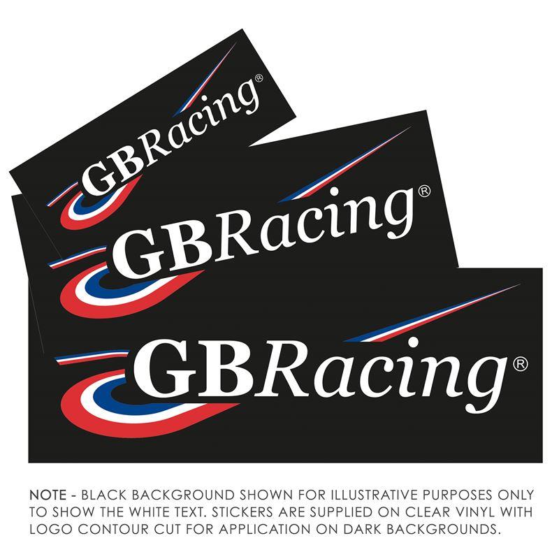 White GBRacing Stickers - 4, 6 & 8inch