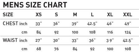Mens Size Chart